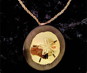 Shungite golden necklace