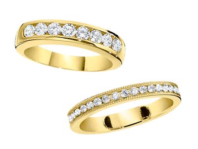 Gold Diamond Anniversary Rings