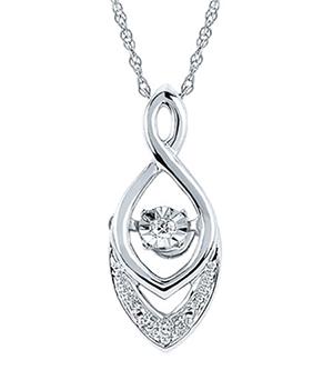 Shimmering diamond necklace