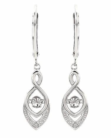 Earrings with Shimmmering Diamonds