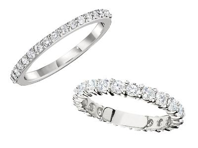 White Anniversary Rings