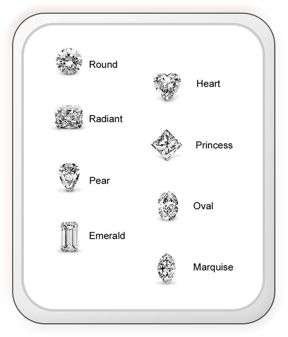 Diamond shapes for engagement rings