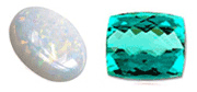 Opal and Tournaline - birthstones for October