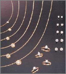 Shimmering Diamonds blue necklace